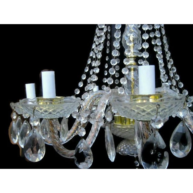 Crystal Waterfall Chandelier For Sale - Image 6 of 8