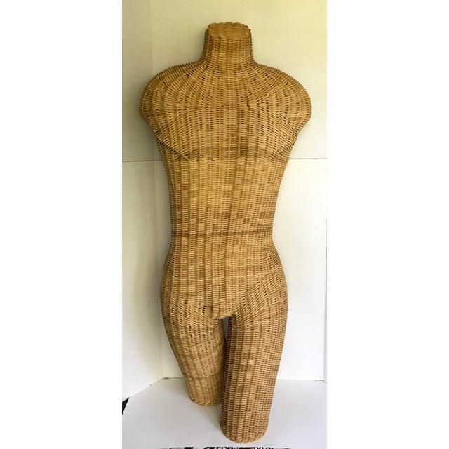 1960s Vintage Wicker Torso Mannequin For Sale - Image 4 of 4