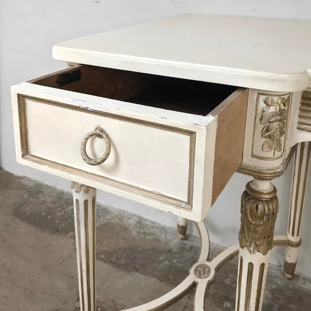 Antique Italian Neoclassical Painted Sofa Table ~ Vanity ~ Writing Desk For Sale - Image 4 of 13