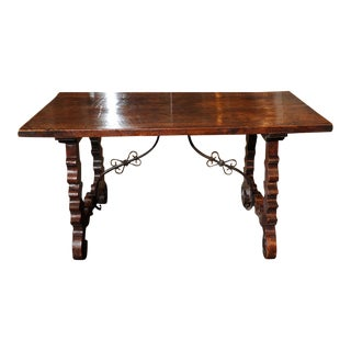 18th Century Spanish Baroque Trestle Table For Sale