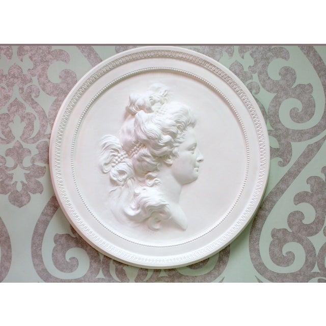 Portrait Medallion after sculptor Sergel's casting of Anna Sophie Hagman [1761-1824]. Famous ballet dancer in Sweden and...