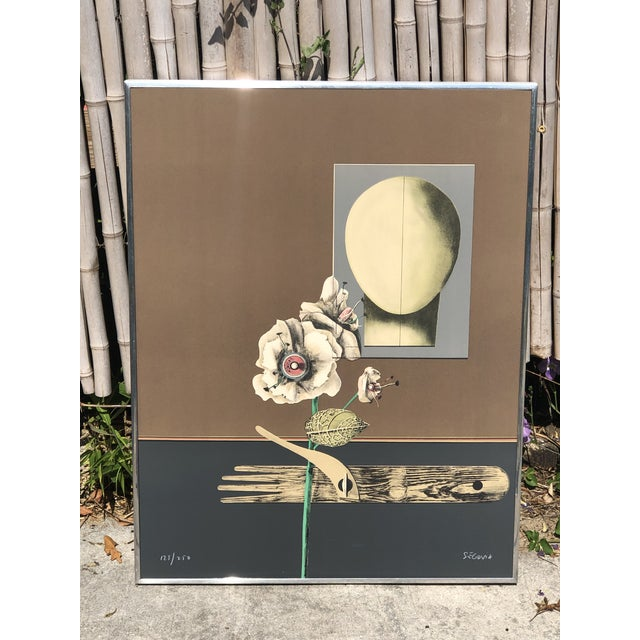 1960s Vintage Andres Segovia Abstract Surrealist Signed Lithograph Print For Sale - Image 10 of 10