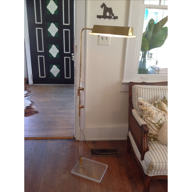 Vintage Lucite and Brass Floor Lamp - Image 2 of 5