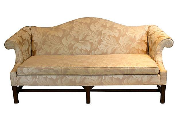 Vintage Ethan Allen Chippendale Sofa   Image 2 Of 8