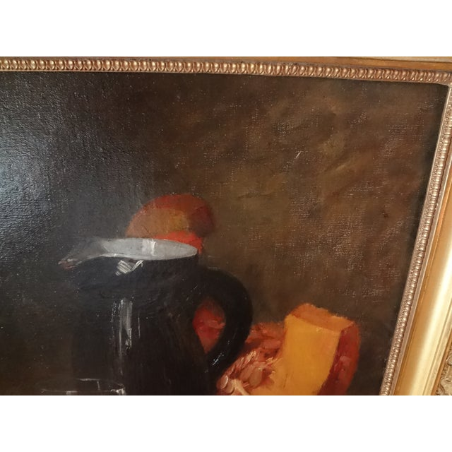 Orange French Still Life 19th Century Painting For Sale - Image 8 of 11