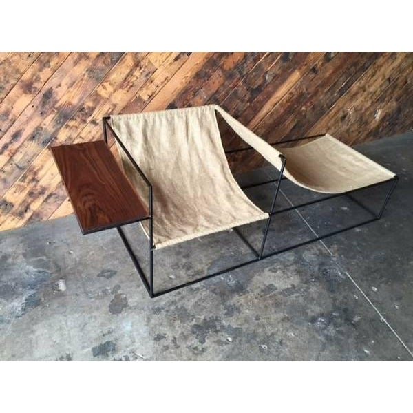 Modern Wrought Iron Chair Lounger - Image 4 of 6
