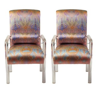 Charles Hollis Jones Lucite Armchairs - Pair For Sale