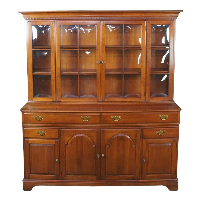 Traditional Pennsylvania House Cherry China Display Cabinet For Sale