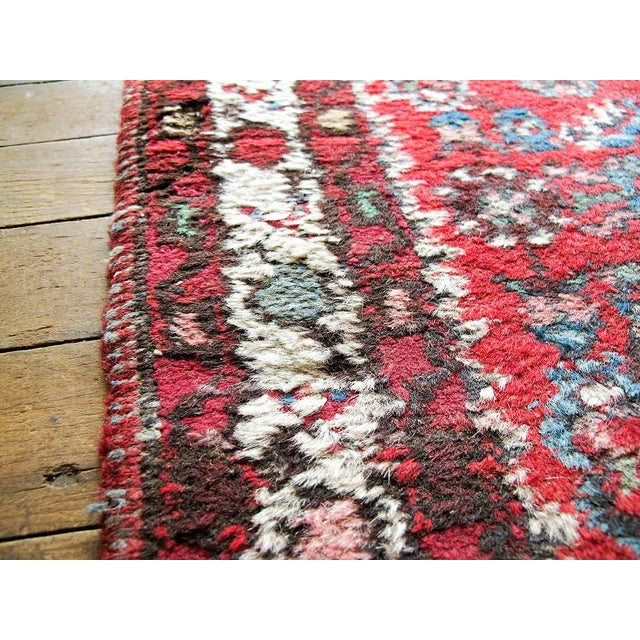 """Red Boho Chic Persian Rug - 1'11"""" X 3' - Image 4 of 7"""
