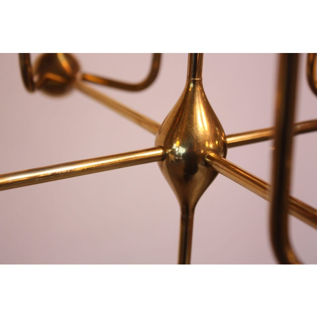 West German Brass and Glass Oil Lamp Candelabra by Freddie Andersen - Image 3 of 9