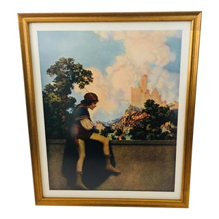 Framed Maxfield Parrish 1925 Knave of Hearts Book Page For Sale