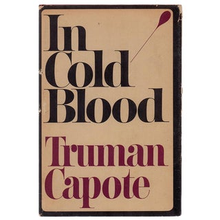"1965 ""In Cold Blood: A True Account of a Multiple Murder and Its Consequences"" Collectible Book For Sale"