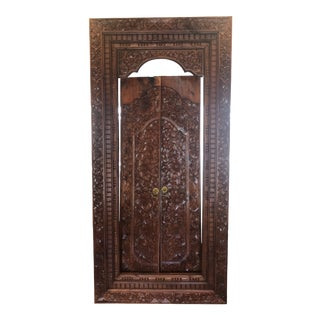 Balinese Handcrafted Wooden Teak Door For Sale