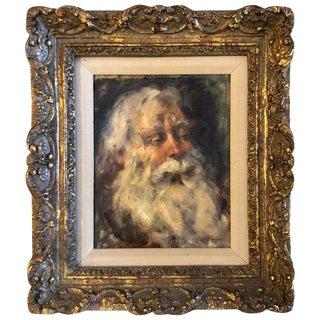 1930s Vintage Elias Mandel Grossman Oil on Board Painting For Sale