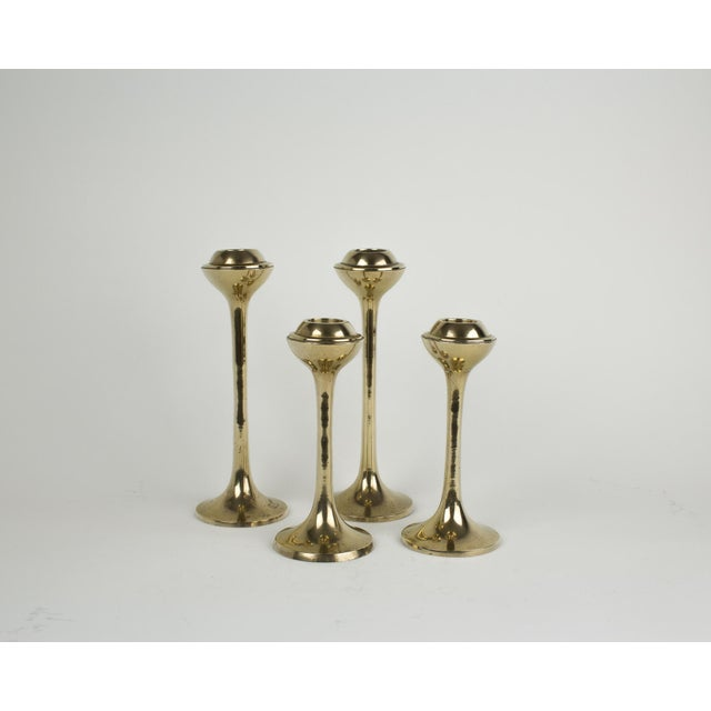 Mid-Century Modern Globe Candlestick Holders - Set of 4 For Sale In New York - Image 6 of 9