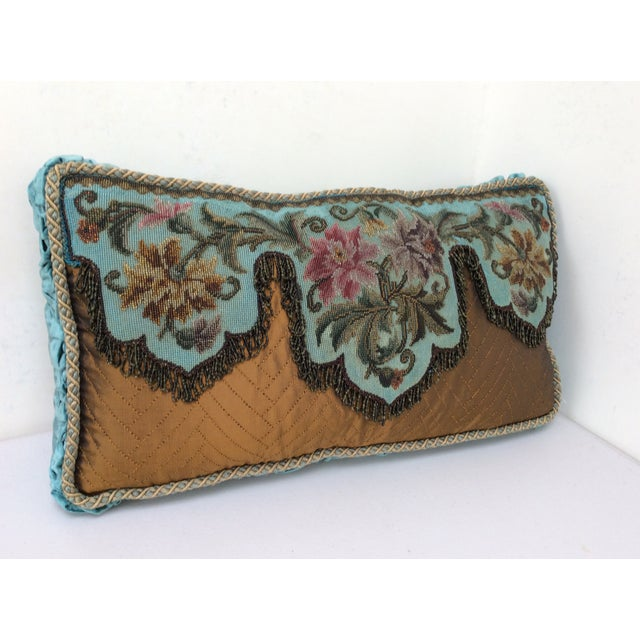 Traditional Antique Beadwork Textile Pillow For Sale - Image 3 of 11