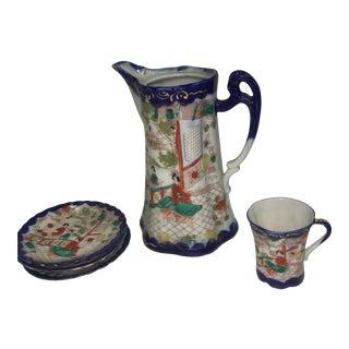 Japanese Porcelain Tea Set - Set of 5 For Sale