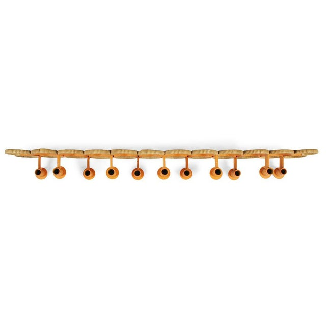 Mid-Century Modern Orange Lacquered Wrought Iron Wall-Mounted Candelabra For Sale - Image 3 of 9