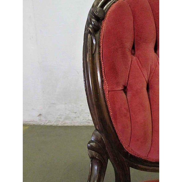 French Tufted Back Parlor Chair For Sale - Image 4 of 6