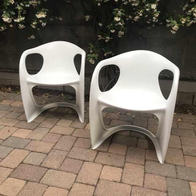 Plastic Mid Century Vitra Style Monolith Chairs- 5 Pieces For Sale - Image 7 of 11