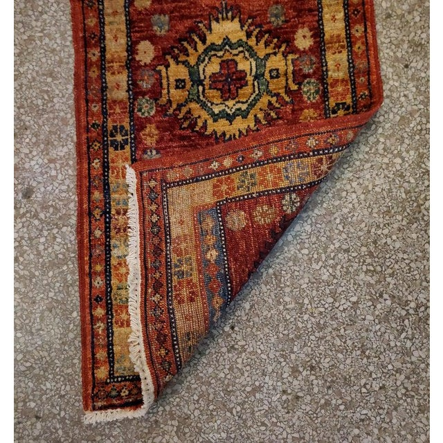 """2010s Afghan Tribal Red Rug-1'8'x3'3"""" For Sale - Image 5 of 7"""