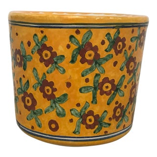 Vintage Talavera Ceramic Planter For Sale