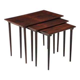 1960s Danish Brazilian Rosewood Nesting Tables - Set of 3 For Sale