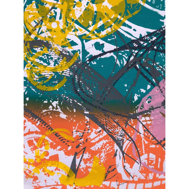 """1970s 1970s Abstract Silkscreen """"Orange Slices"""" For Sale - Image 5 of 7"""