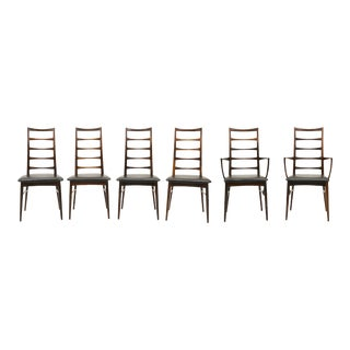 1950s Vintage Niels Kofoed Rosewood Lis Dining Chairs- Set of 6 For Sale