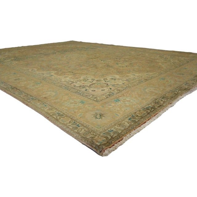 Vintage Persian Tabriz Area Rug With Arts Craft Style 8 5 12