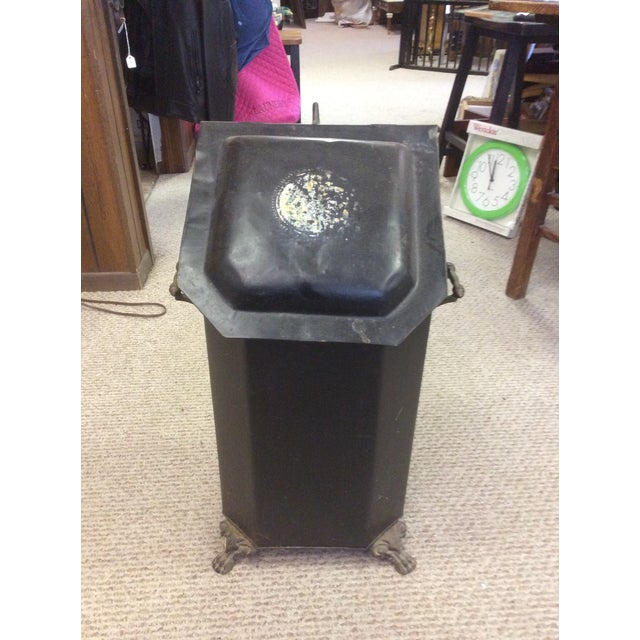 Antique Coal or Ash Bin/Scuttle For Sale - Image 9 of 9