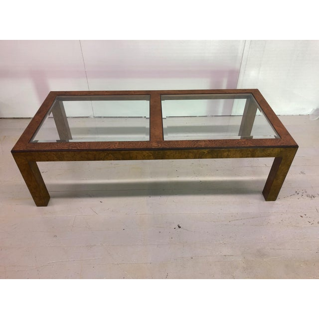 Wood Mid-Century Modern John Widdicomb Parsons Style Coffee Table For Sale - Image 7 of 9