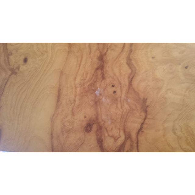 Milo Baughman-Attributed Burl Dining Table - Image 10 of 11