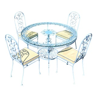 Victorian Metal Dining Set - 5 Pieces For Sale