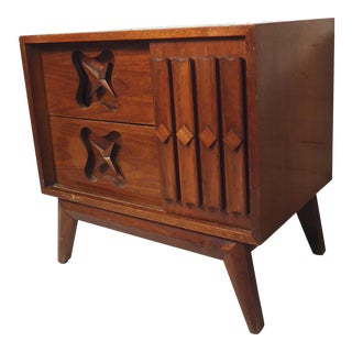 Mid Century Modern Single Nightstand For Sale