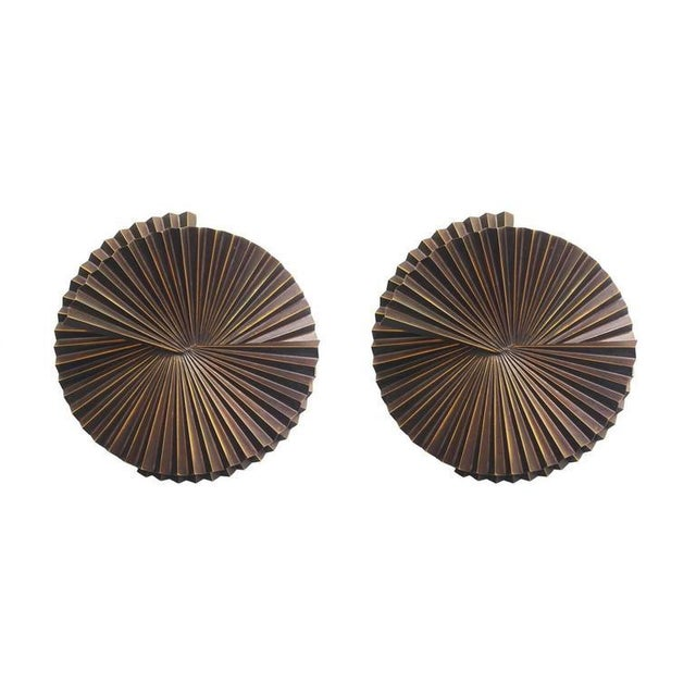 Early 21st Century Medium Fan Sconce Sculptures by Fabio Ltd - a PAir For Sale - Image 5 of 5