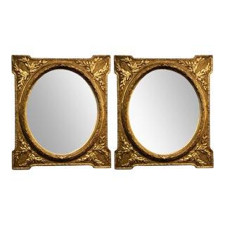 Louis XVI Style Mirror in Gilt Frames - a Pair For Sale