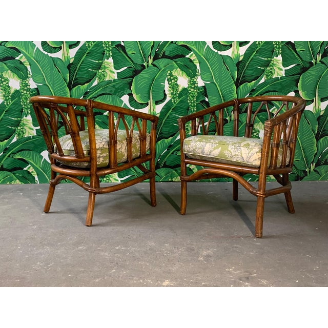 Pair of Bamboo Club Chairs in the Style of McGuire For Sale - Image 12 of 12
