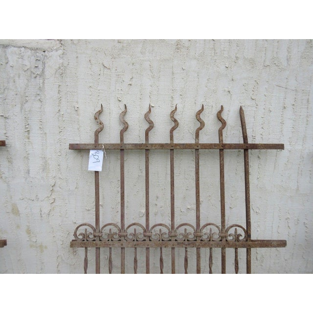 Victorian Antique Victorian Iron Gate Window Garden Fence Architectural Salvage Door #309 For Sale - Image 3 of 6