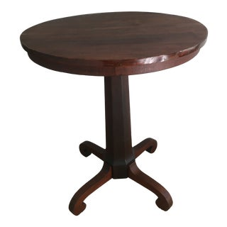 Early 20th Century American Empire Mahogany Side Table For Sale