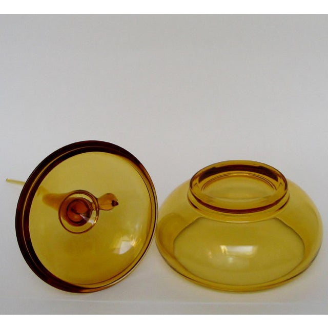 Viking Amber Glass Bowl For Sale In Los Angeles - Image 6 of 7