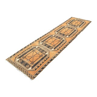 Vintage Rustic Turkish Runner Rug For Sale