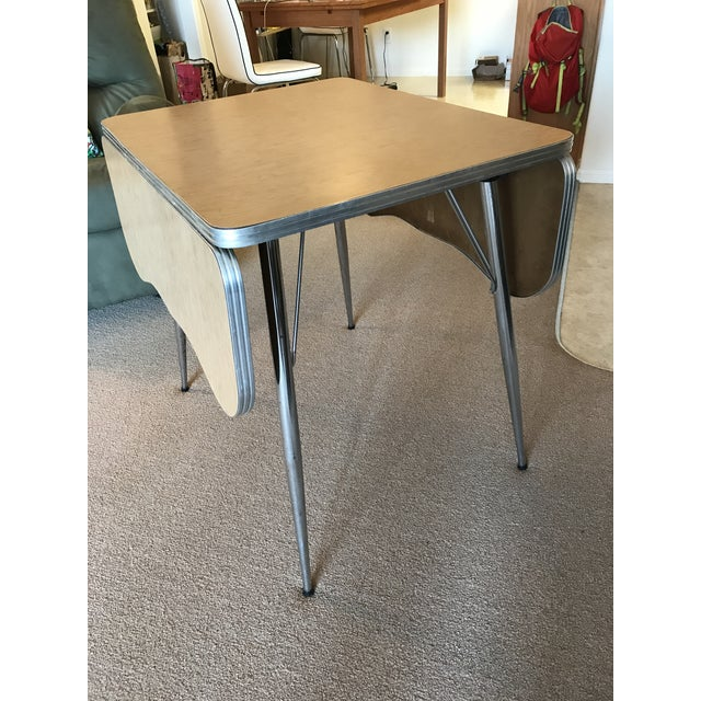 Chrome Trim Formica Table - Image 3 of 10