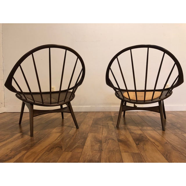 Ib Kofod Larsen for Selig Mid-Century Peacock Lounge Chairs - a Pair For Sale - Image 11 of 13