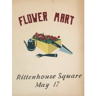 Rittenhouse Square Philadelphia Flower Mart Painting For Sale