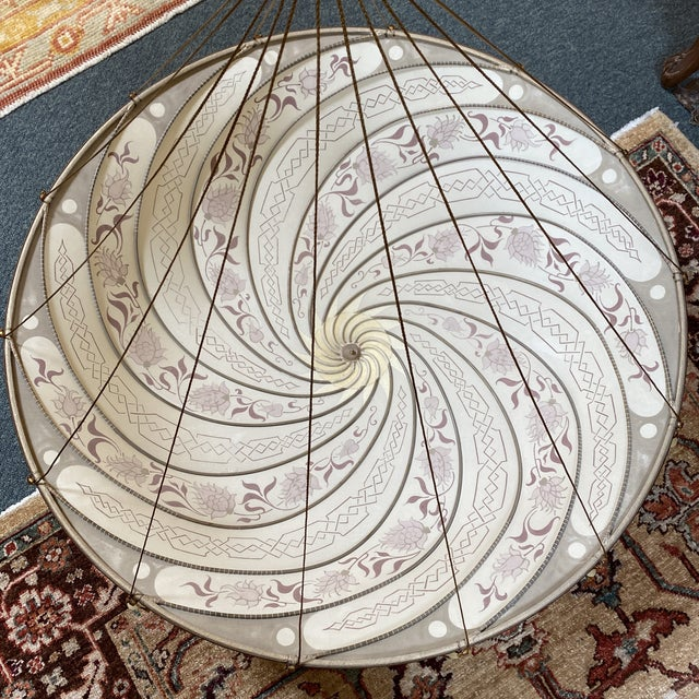 Gothic Fortuny Custom Scudo Saraceno Carduus Pendant in Light Pink For Sale - Image 3 of 10