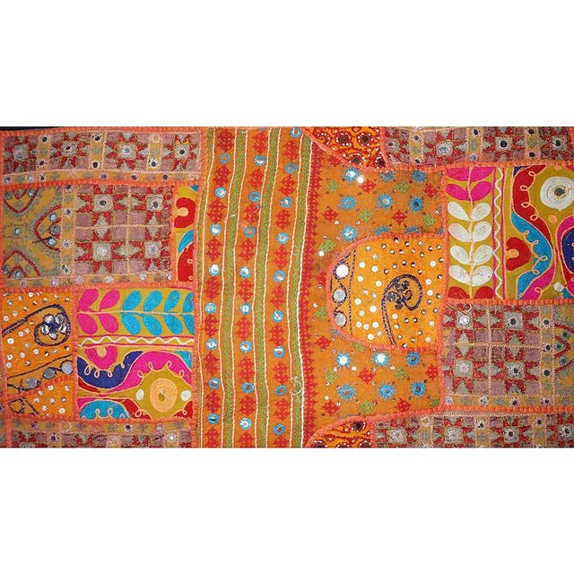 Early 20th Century Antique Boho Chic Handmade Wall Hanging Tapestry For Sale - Image 5 of 8