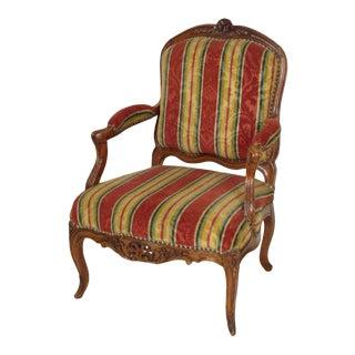 18th Century Louis XV Provincial Walnut Armchair For Sale