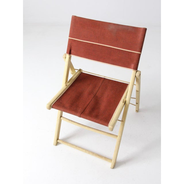 Mid-Century Folding Chair For Sale - Image 6 of 8
