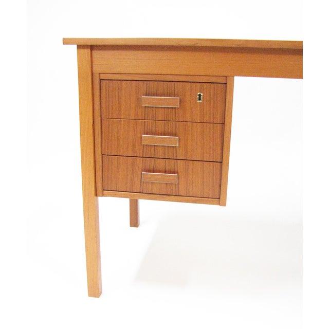 1960s 1960's Vintage Ejsing Møbelfabrik Teak Writing Desk For Sale - Image 5 of 11